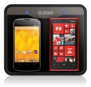 Zens ZEDC01B/00 Qi-Ladestation - zwei Smartphones gleichzeitig aufladen
