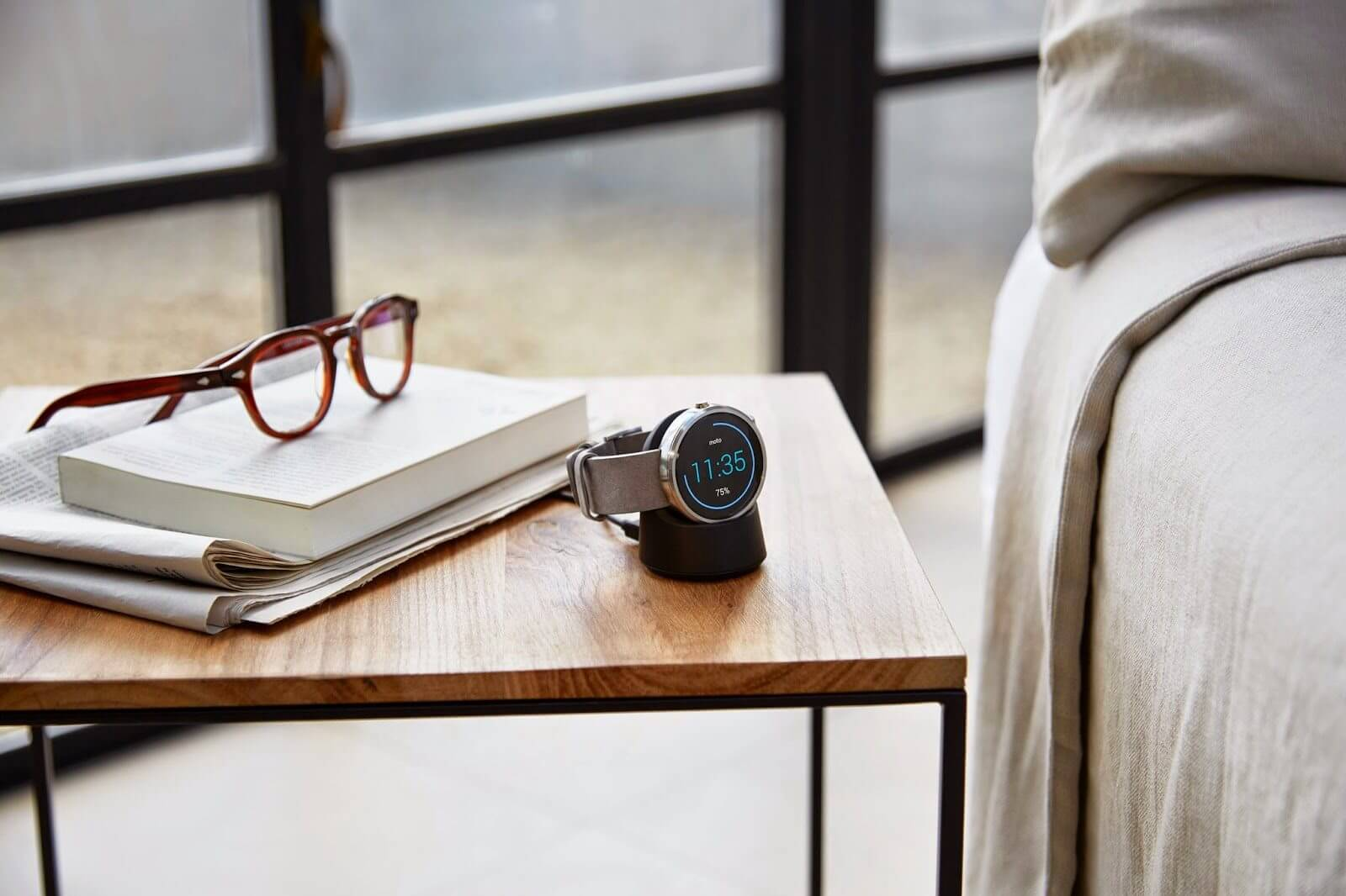 Qi-Smartwatch Motorola Moto 360