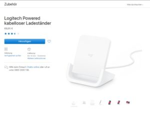 Logitech Powered kabelloser Ladeständer für iPhone