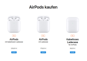 AirPods 2 mit Qi Ladecase offiziell vorgestellt