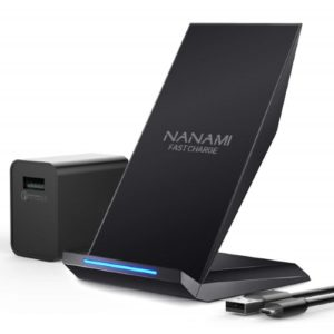 NANAMI Fast Wireless Charger Qi Ladegerät mit Quick Charge 3.0 Adapter
